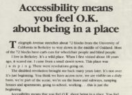 Accessibility Means You Feel O.K. About Being in a Place