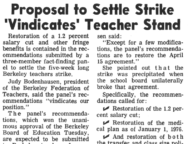 Proposal to Settle Strike 'Vindicates' Teacher Stand