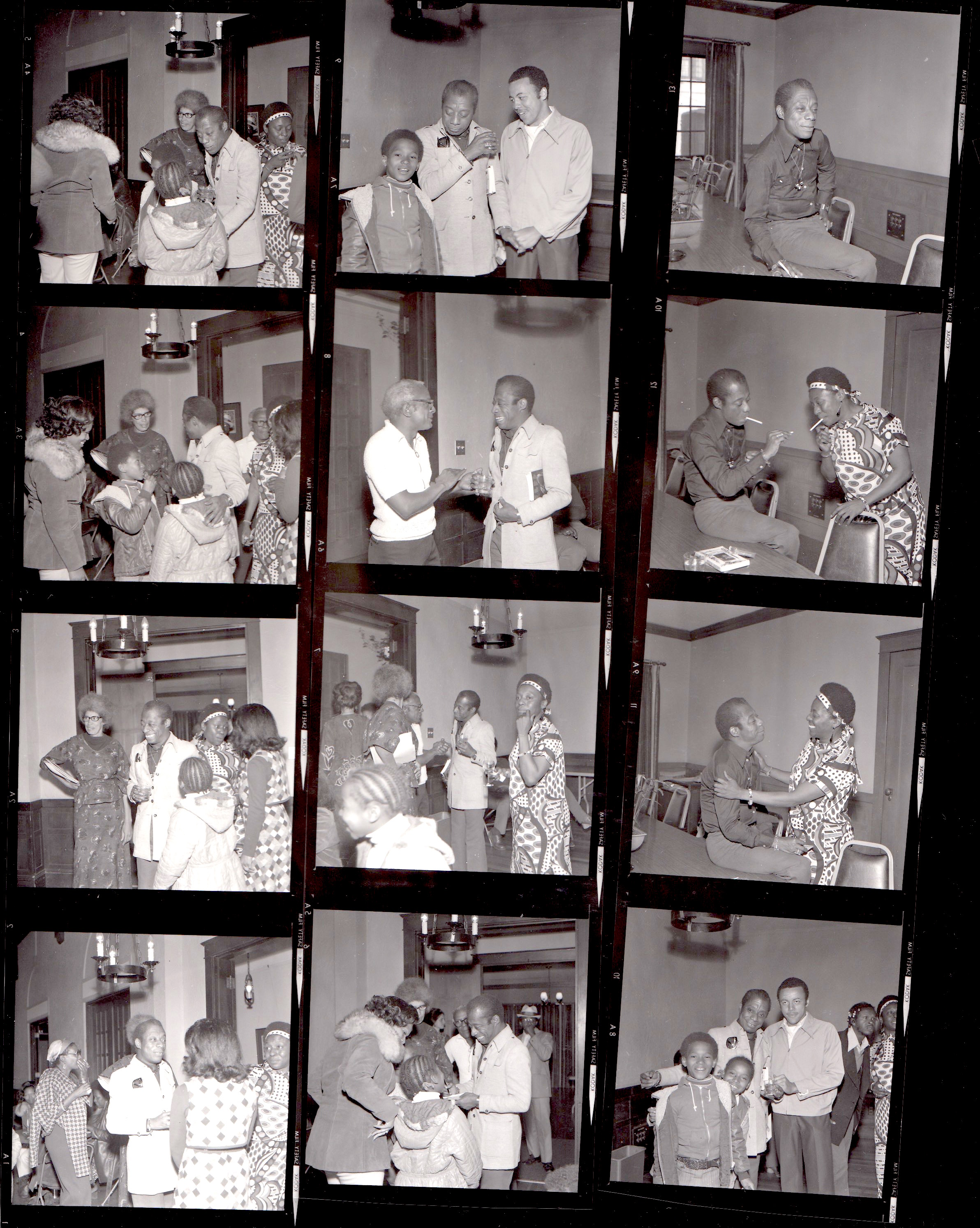 James Baldwin Contact Sheet