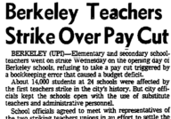 Berkeley Teachers Strike Over Pay Cut