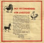 Not Suitable for Livestock