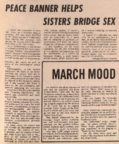 Peace Banner Helps Sisters Bridge Sex
