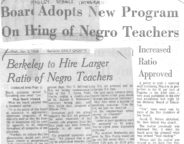 Board Adopts New Program on Hiring of Negro Teachers
