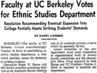 Faculty at UC Berkeley Votes for Ethnic Studies Department