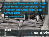Nacio Jan Brown at Berkeley's Journalism School