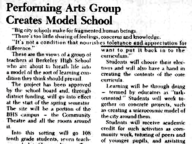 Performing Arts Group Creates Model School