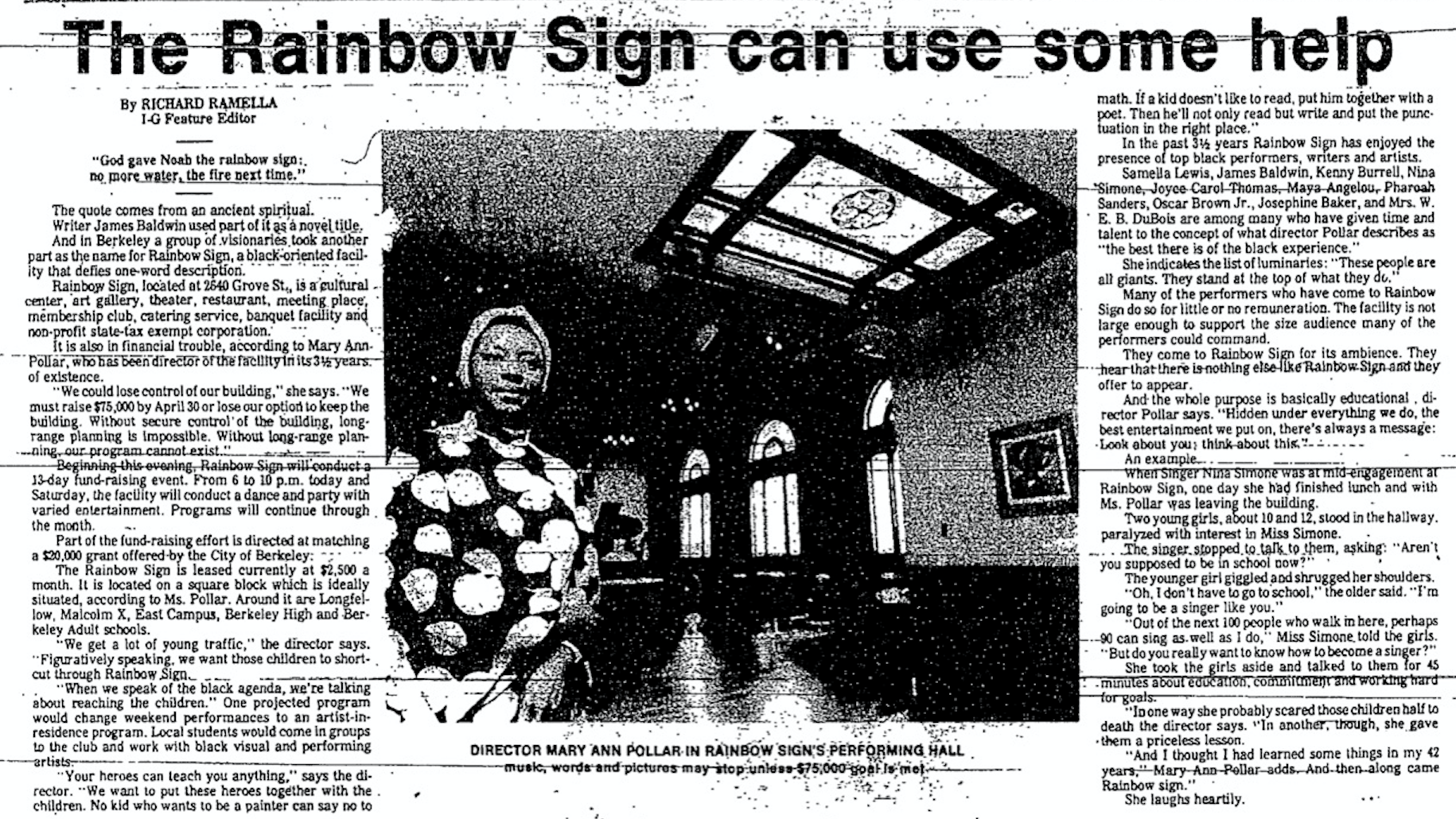 The Rainbow Sign Can Use Some Help