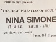 Rainbow Sign Presents Nina Simone