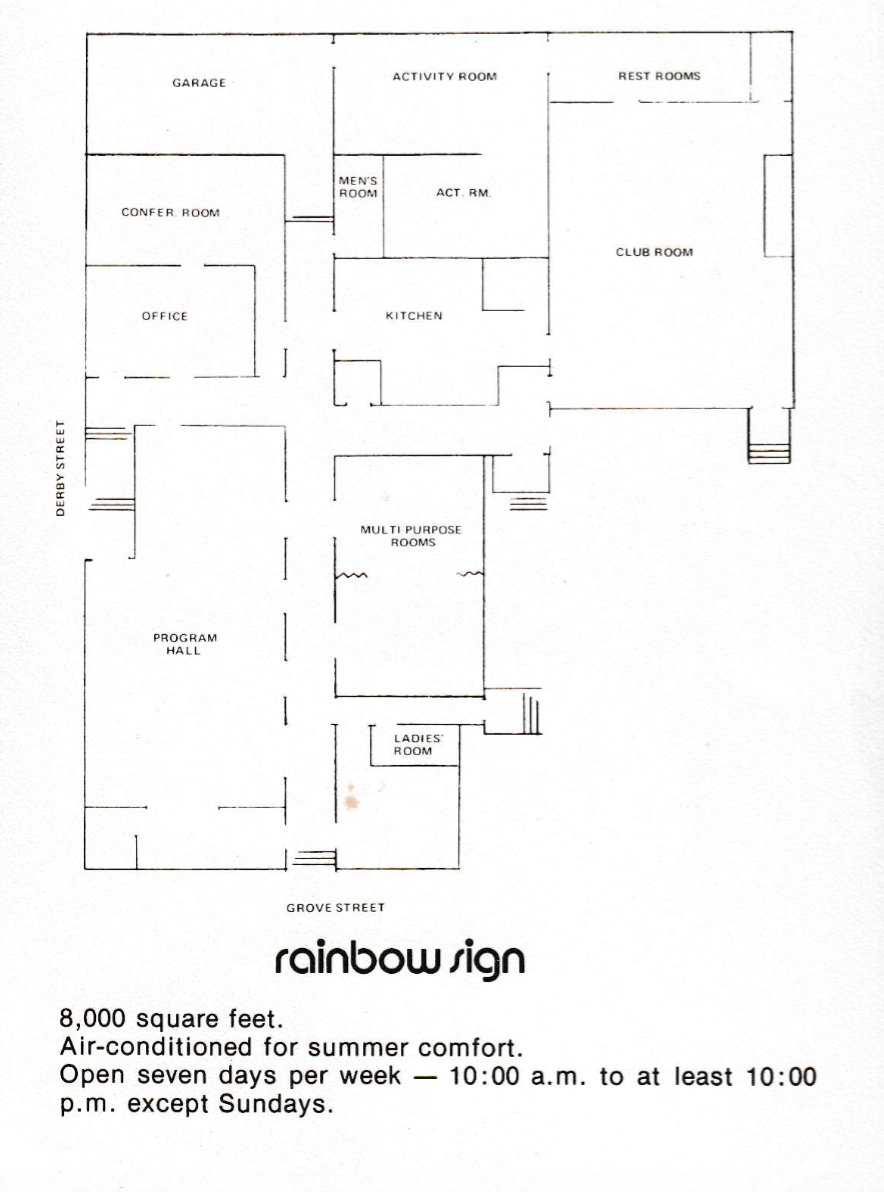 Rainbow Sign Floor Plan