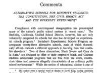 Alternative Schools for Minority Students