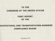 First Report to the U.S. Congress