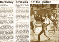 Berkeley Strikers Battle Police