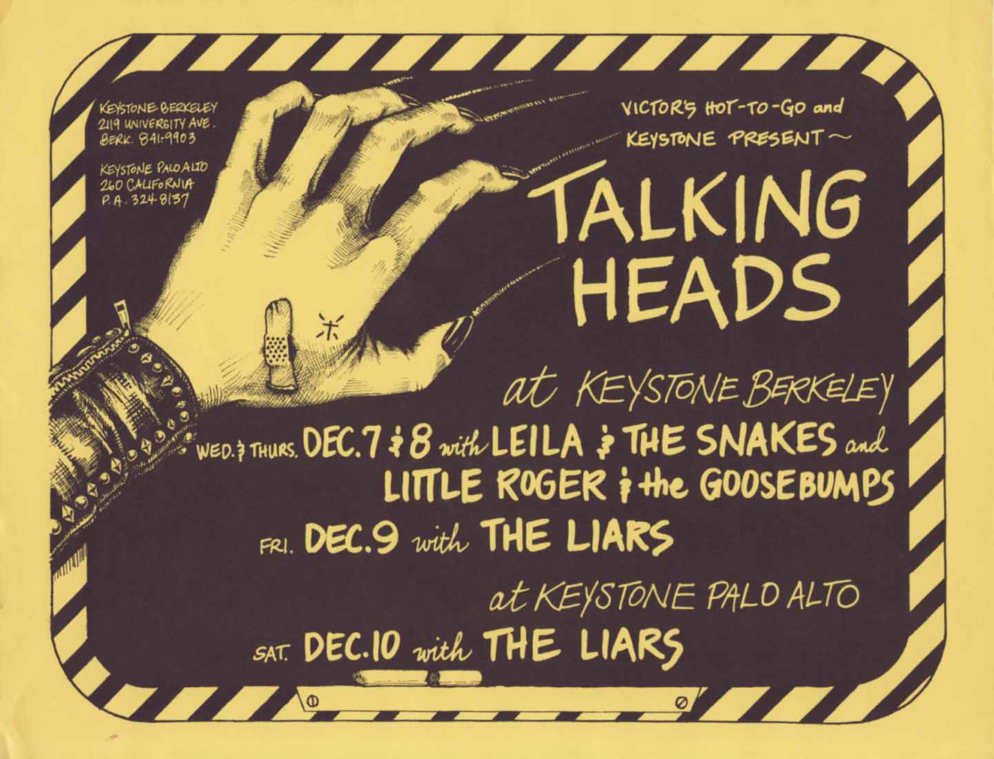 The Talking Heads First National Tour Hit the Keystone Berkeley