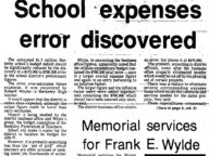 School Expenses Error Discovered