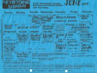 Keystone Berkeley calendar June 1975