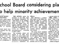 School Board Considering Plan to Help Minority Achievement