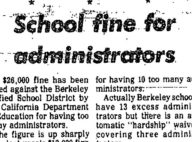 School Fine For Administrators