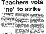 """Teachers Vote 'No' to Strike"""