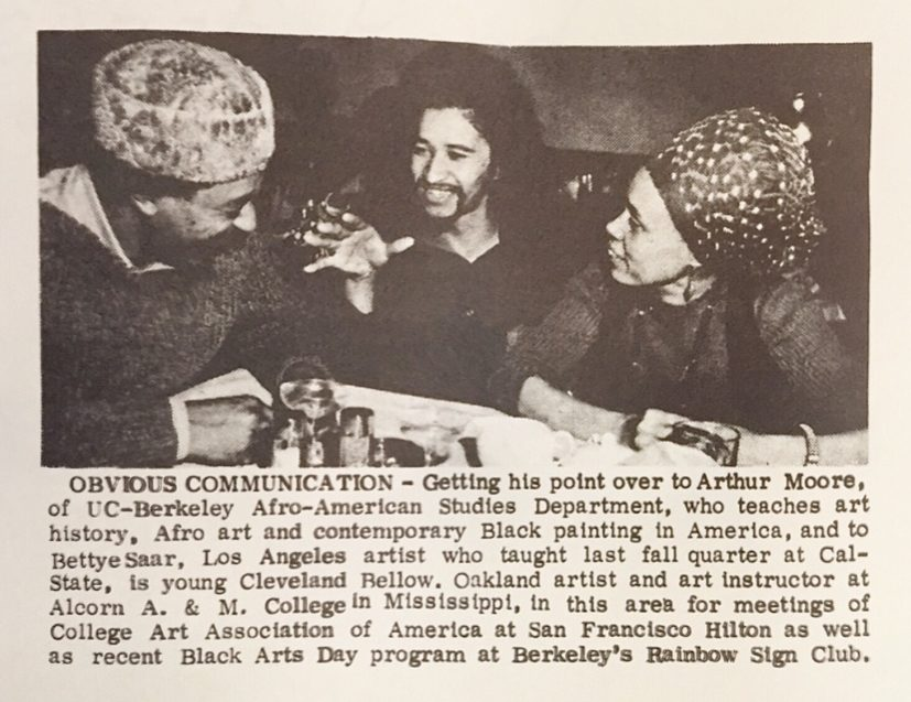 """""""Obvious Communication""""-Betye Saar, Arthur Moore, and Cleveland Bellows"""