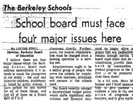 School Board Must Face Four Major Issues Here