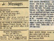 Sex Work Ads 1978