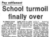 School Turmoil Finally Over